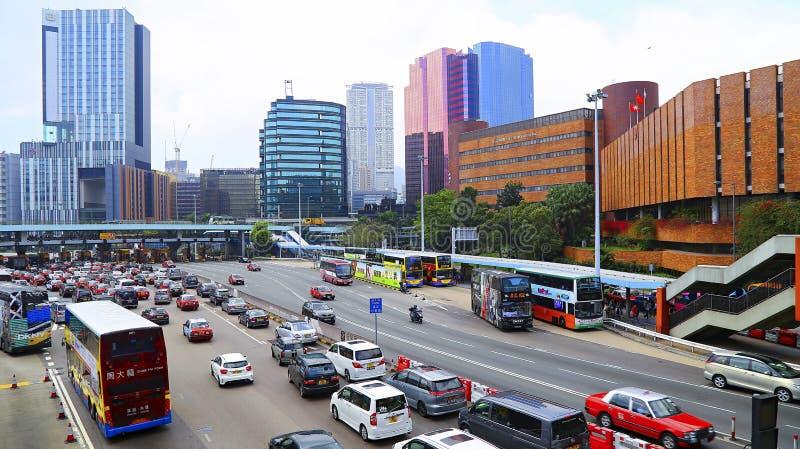 στο κέντρο της πόλης Χογκ Κογκ στοκ φωτογραφία με δικαίωμα ελεύθερης χρήσης