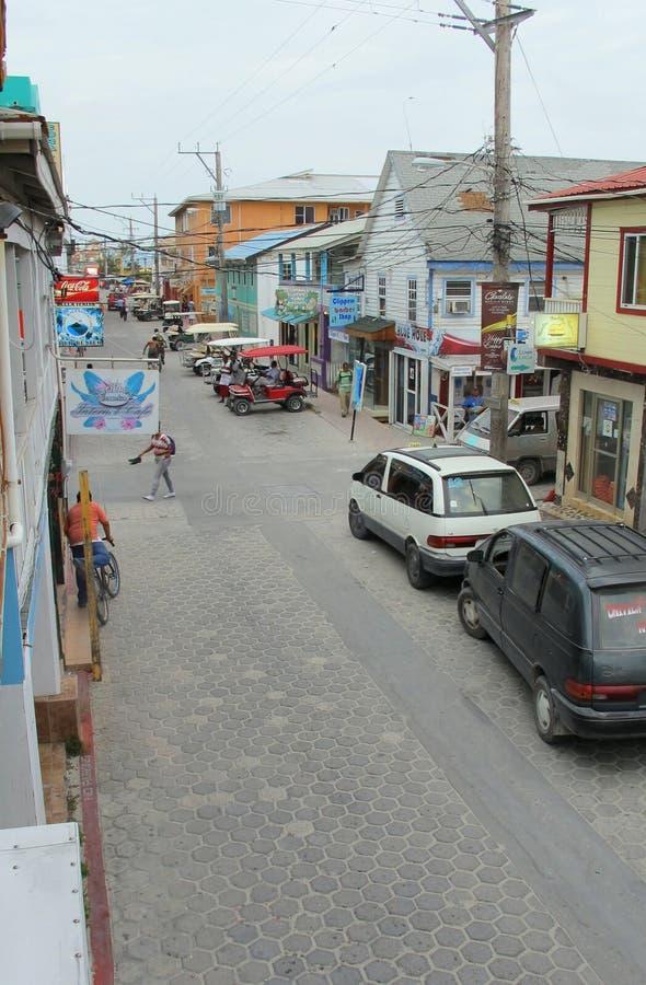 Στο κέντρο της πόλης SAN Pedro, SAN Ηγνάτιος, Μπελίζ στοκ εικόνα