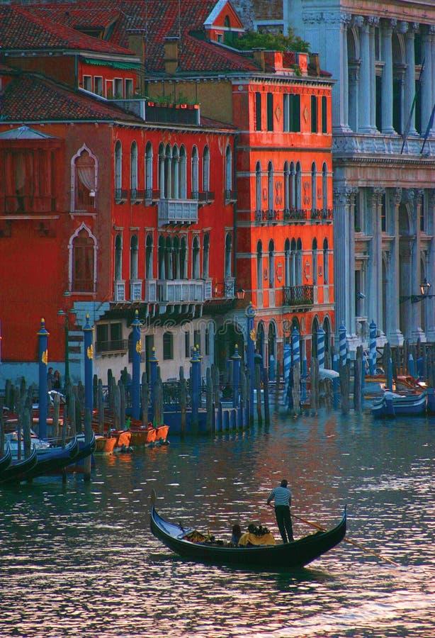 Στο μεγάλο κανάλι στη Βενετία στοκ εικόνες