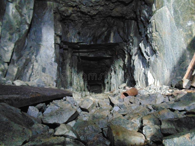 Στο ορυχείο στοκ εικόνα με δικαίωμα ελεύθερης χρήσης