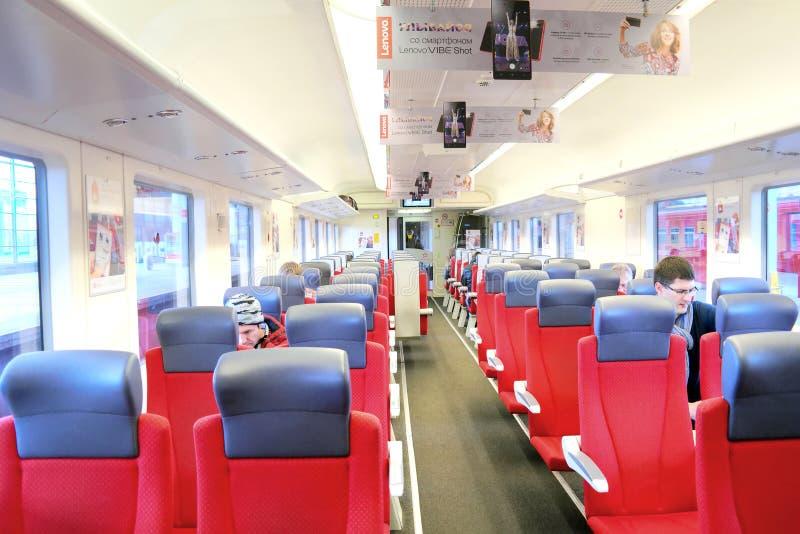 Στο σαλόνι των aeroexpress στοκ εικόνες