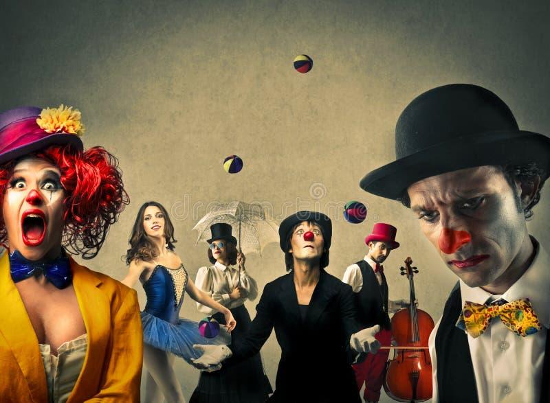 Στο τσίρκο στοκ εικόνα με δικαίωμα ελεύθερης χρήσης