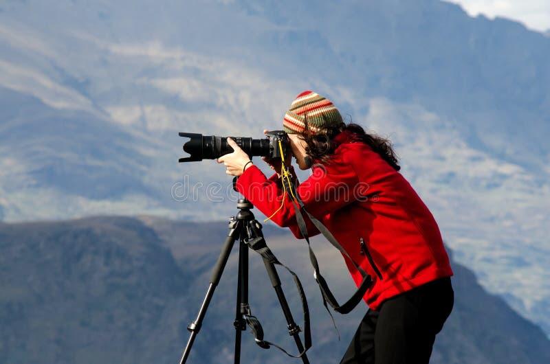 Στο φωτογράφο θέσης στοκ εικόνες με δικαίωμα ελεύθερης χρήσης