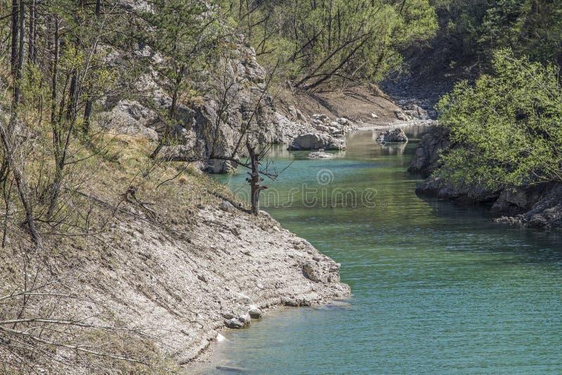 Στο dei Tramonti Lago σε Friuli στοκ εικόνα