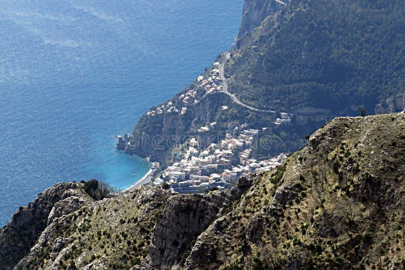 Στο positano στοκ φωτογραφίες με δικαίωμα ελεύθερης χρήσης