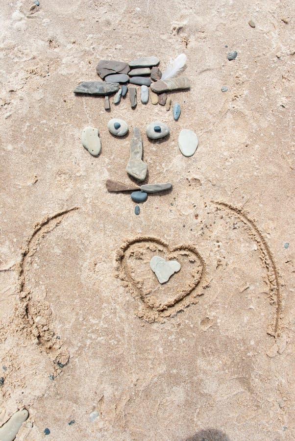 Στρέθιμο της προσοχής στην άμμο στοκ φωτογραφίες
