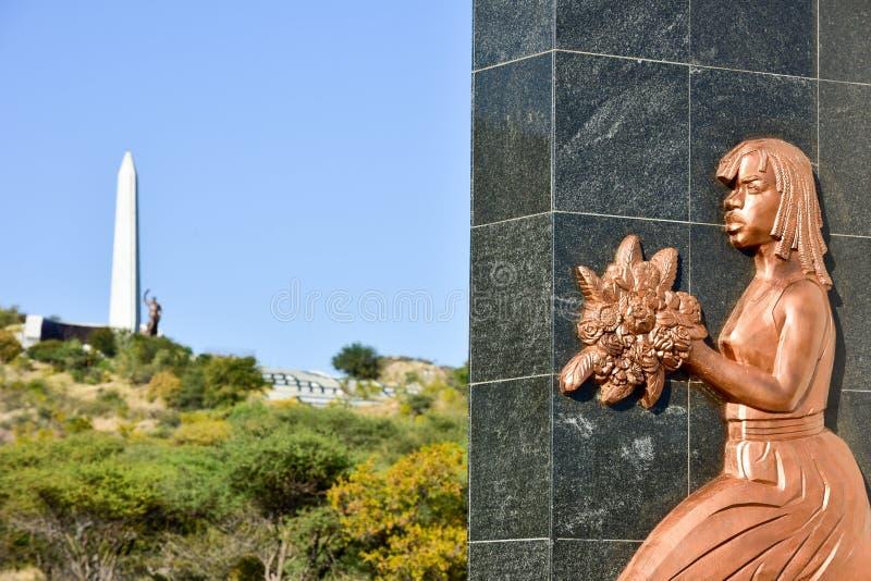 Στρέμμα ηρώων, Windhoek, Ναμίμπια, Αφρική στοκ εικόνες
