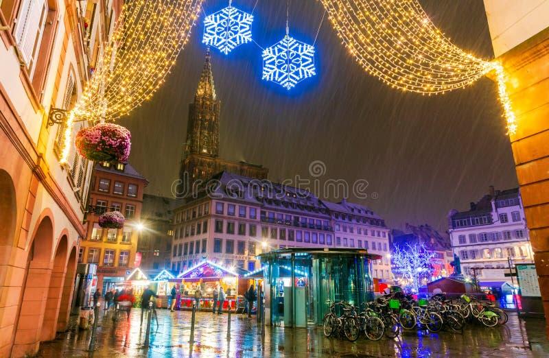 Στρασβούργο, Αλσατία, Γαλλία - Capitale de Noel στοκ εικόνες με δικαίωμα ελεύθερης χρήσης
