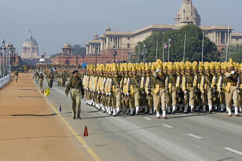στρατεύματα του Δελχί Μάρ&t στοκ φωτογραφία με δικαίωμα ελεύθερης χρήσης