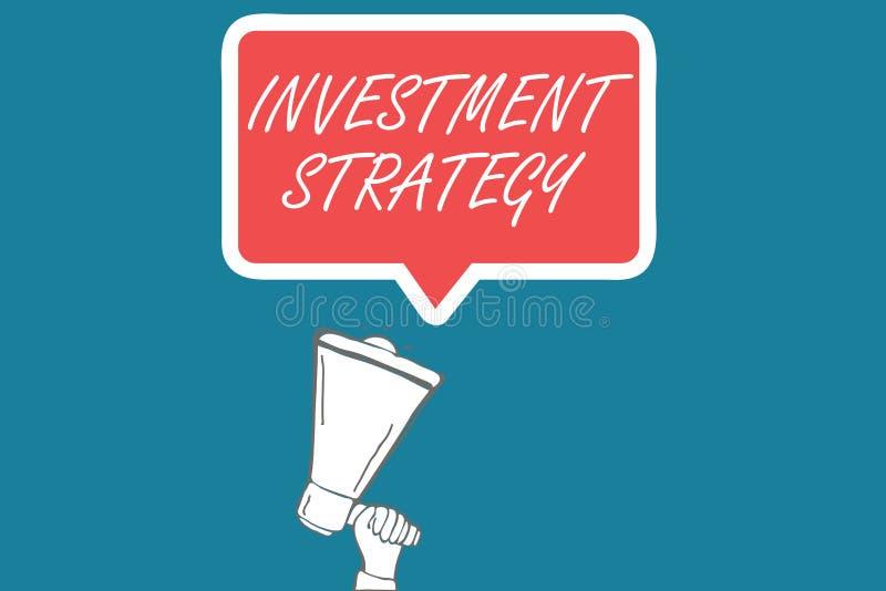 Στρατηγική επένδυσης κειμένων γραφής Σύνολο έννοιας έννοιας συμπεριφοράς διαδικασιών κανόνων ένας οδηγός για έναν επενδυτή διανυσματική απεικόνιση