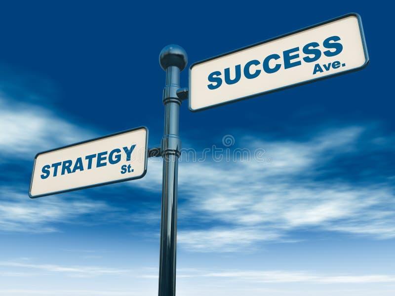 Στρατηγική επιτυχίας απεικόνιση αποθεμάτων