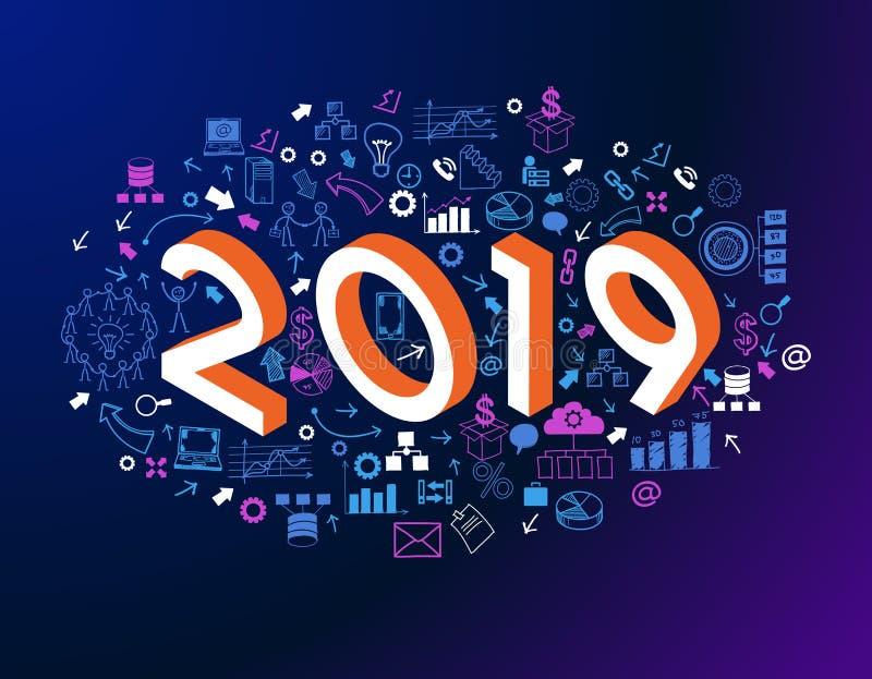 στρατηγική επιχειρησιακής επιτυχίας του 2019 νέα ελεύθερη απεικόνιση δικαιώματος