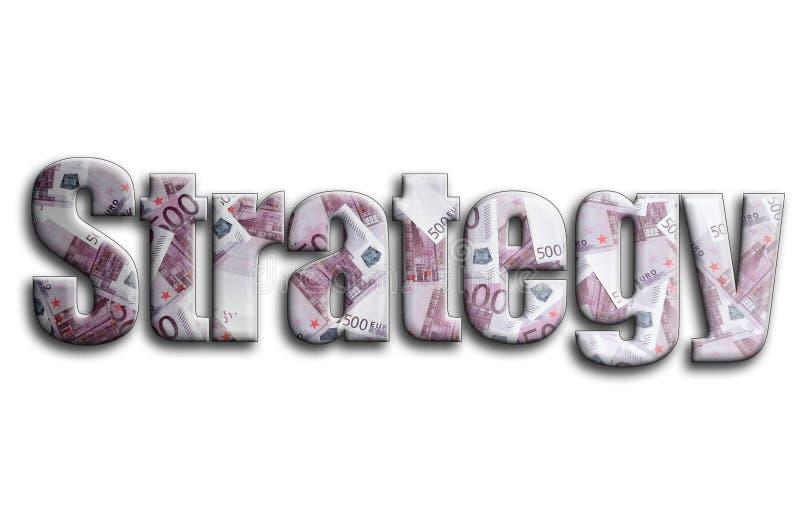 στρατηγική Η επιγραφή έχει μια σύσταση της φωτογραφίας, η οποία απεικονίζει πολλούς 500 ευρο- λογαριασμούς χρημάτων στοκ φωτογραφία με δικαίωμα ελεύθερης χρήσης