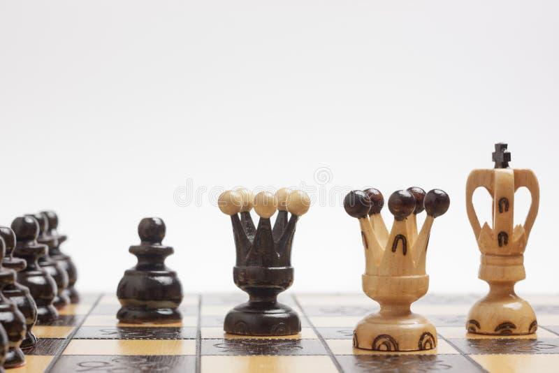 Στρατηγική και τακτική σε ένα παιχνίδι του σκακιού στοκ εικόνες