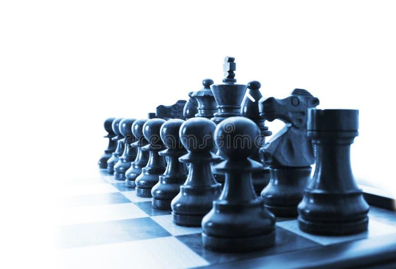 στρατηγική κομματιών επιχειρησιακού σκακιού στοκ εικόνες