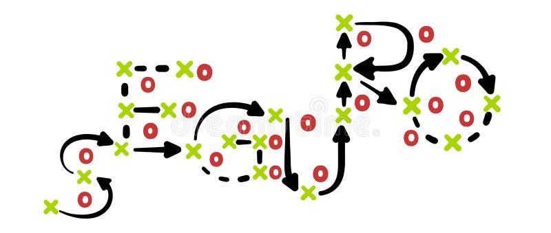 Στρατηγική που γράφεται ασφαλιστική στα ισπανικά στον πίνακα τακτικής απεικόνιση αποθεμάτων