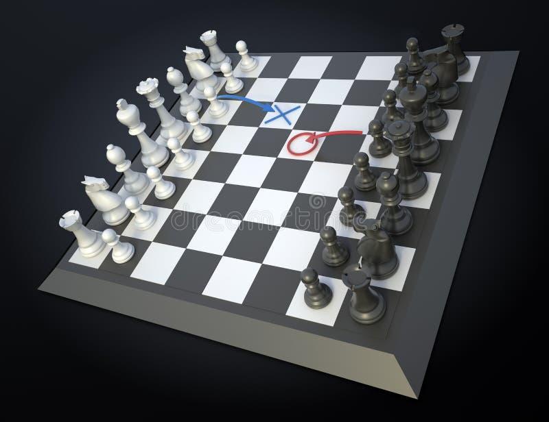 στρατηγική σκακιού απεικόνιση αποθεμάτων