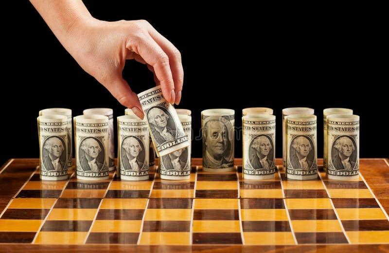 στρατηγική χρημάτων στοκ εικόνα
