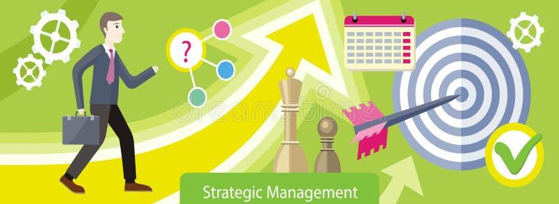 Στρατηγικό διοικητικό σχέδιο επίπεδο διανυσματική απεικόνιση