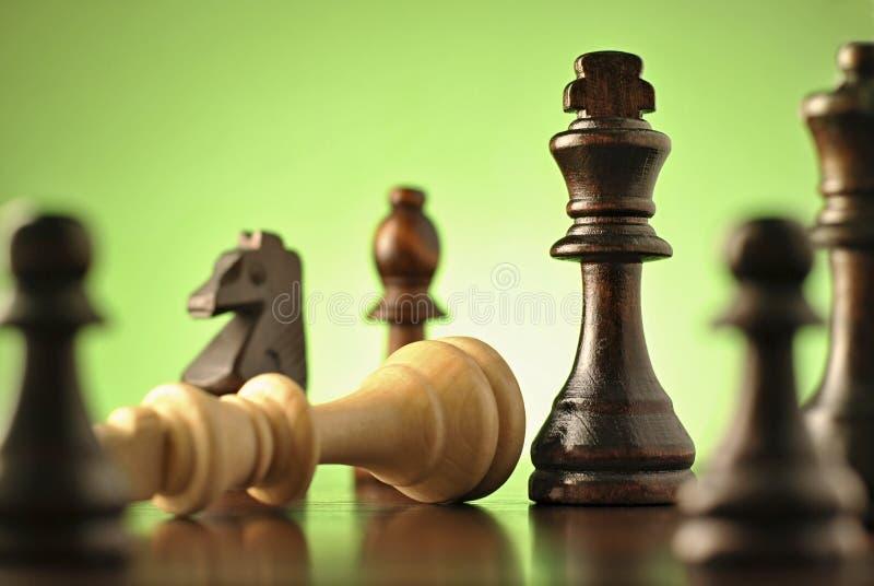 Στρατηγικό παιχνίδι του σκακιού στοκ εικόνες με δικαίωμα ελεύθερης χρήσης