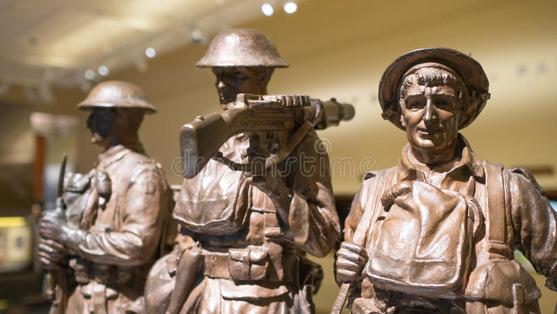 Στρατιωτικά αγάλματα χαλκού στοκ φωτογραφία