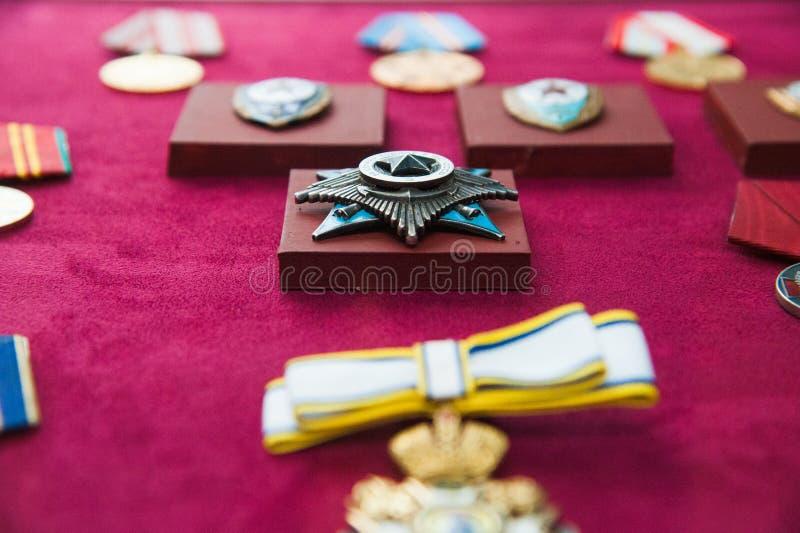 Στρατιωτικές διαταγές και στρατιωτικά μετάλλια στοκ εικόνα με δικαίωμα ελεύθερης χρήσης