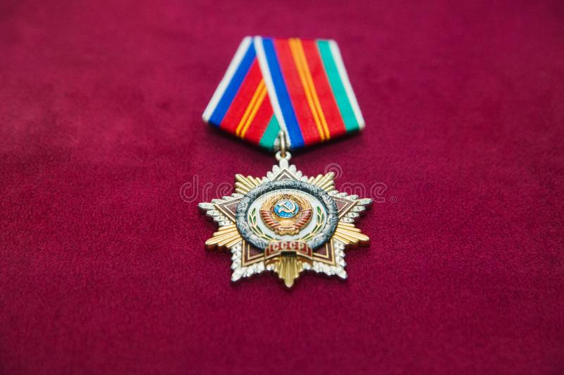 Στρατιωτικές διαταγές και στρατιωτικά μετάλλια στοκ εικόνες με δικαίωμα ελεύθερης χρήσης