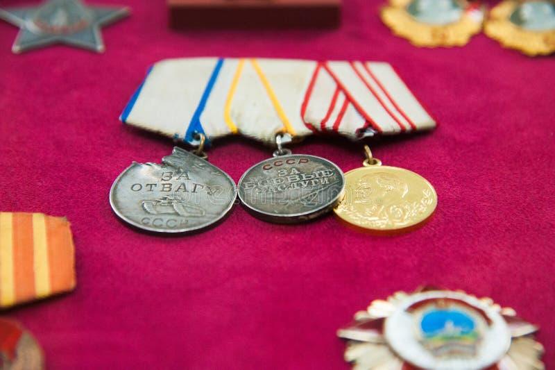 Στρατιωτικές διαταγές και στρατιωτικά μετάλλια στοκ φωτογραφία με δικαίωμα ελεύθερης χρήσης