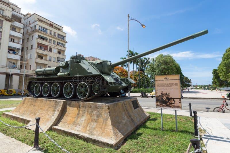Στρατιωτική δεξαμενή στο μουσείο επαναστάσεων στην Αβάνα στοκ φωτογραφίες με δικαίωμα ελεύθερης χρήσης