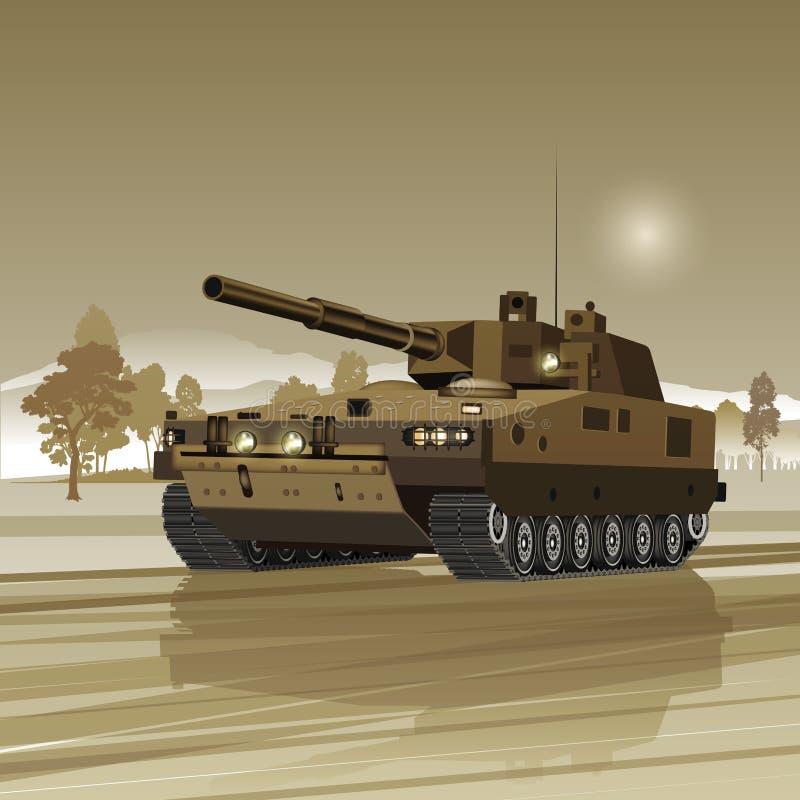 Στρατιωτική δεξαμενή διανυσματική απεικόνιση