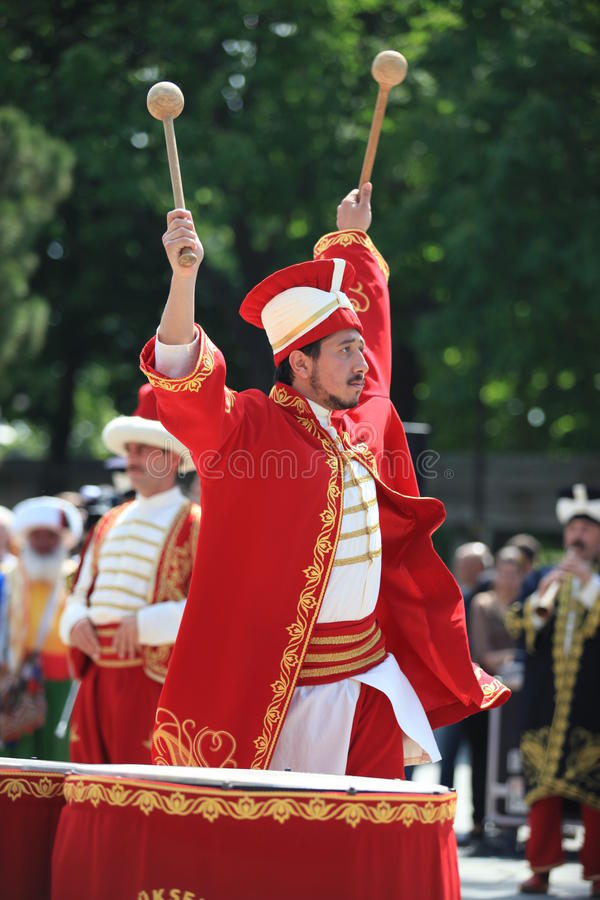 στρατιωτική μουσική Οθωμανός στοκ φωτογραφία
