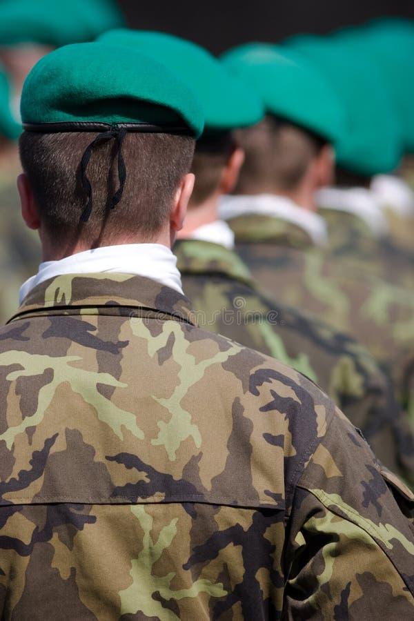 στρατιωτική παρέλαση Πράγ&alpha στοκ φωτογραφία με δικαίωμα ελεύθερης χρήσης