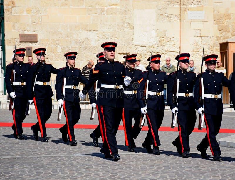 Στρατιωτική παρέλαση, Valletta, Μάλτα στοκ εικόνα