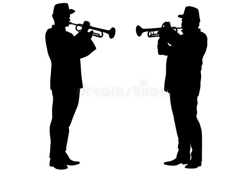 Στρατιωτικοί μουσικοί τέσσερα ελεύθερη απεικόνιση δικαιώματος