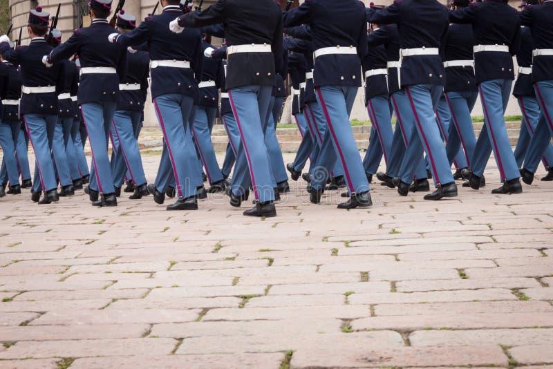 Στρατιωτικοί σχολικοί μαθητές στρατιωτικής σχολής στην τελετή όρκου στοκ φωτογραφίες με δικαίωμα ελεύθερης χρήσης