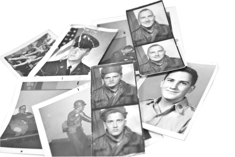 στρατιωτικός αναδρομικός τρύγος φωτογραφιών στοκ φωτογραφία