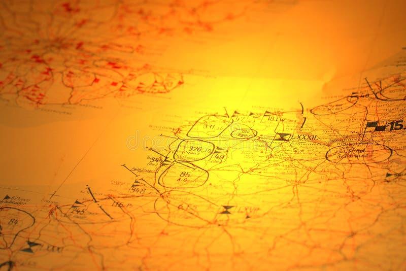 Στρατιωτικός χάρτης Α στοκ εικόνες με δικαίωμα ελεύθερης χρήσης