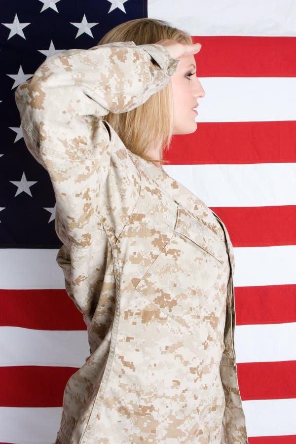 στρατιωτικός χαιρετισμό&sigm στοκ εικόνα