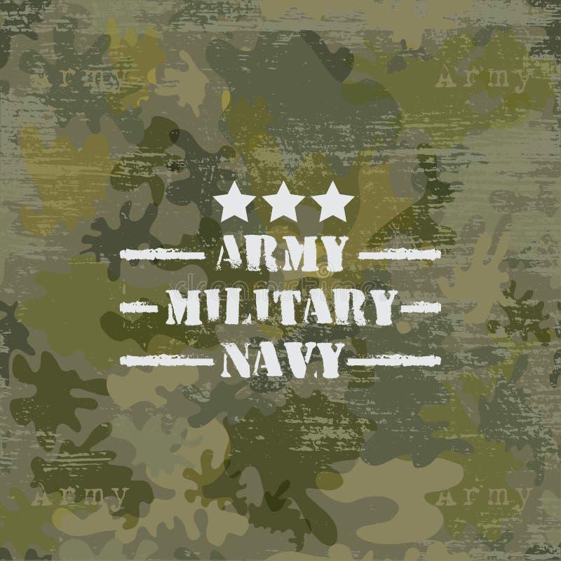 Στρατιωτικό άνευ ραφής υπόβαθρο με το κείμενο ελεύθερη απεικόνιση δικαιώματος