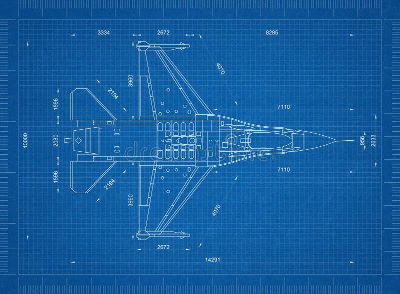 Στρατιωτικό αεροπλάνο τρισδιάστατη προοπτική σχεδιαγραμμάτων †« απεικόνιση αποθεμάτων