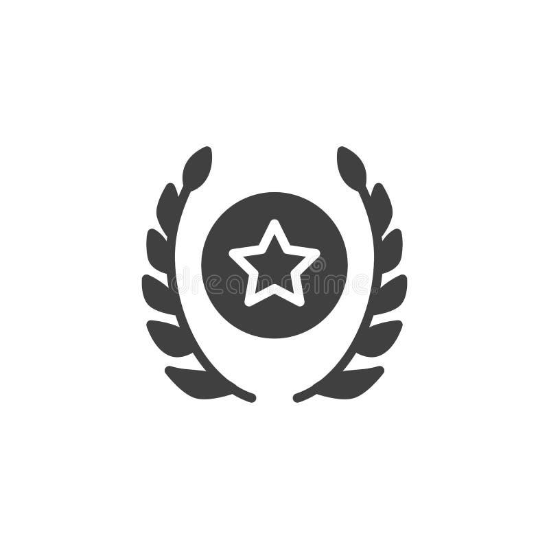 Στρατιωτικό διανυσματικό εικονίδιο αστεριών βραβείων ελεύθερη απεικόνιση δικαιώματος