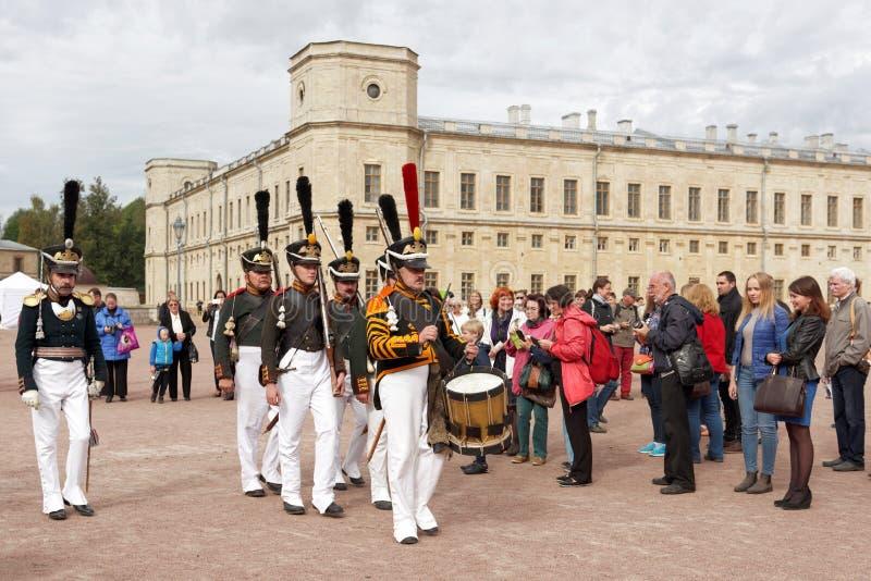 Στρατιωτικό ιστορικό φεστιβάλ Gatchinskaya Byl στοκ φωτογραφία με δικαίωμα ελεύθερης χρήσης