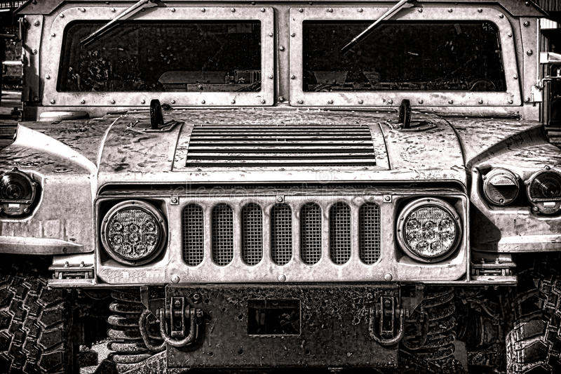 Στρατιωτικό μέτωπο οχημάτων Humvee αμερικάνικου στρατού στοκ φωτογραφίες με δικαίωμα ελεύθερης χρήσης