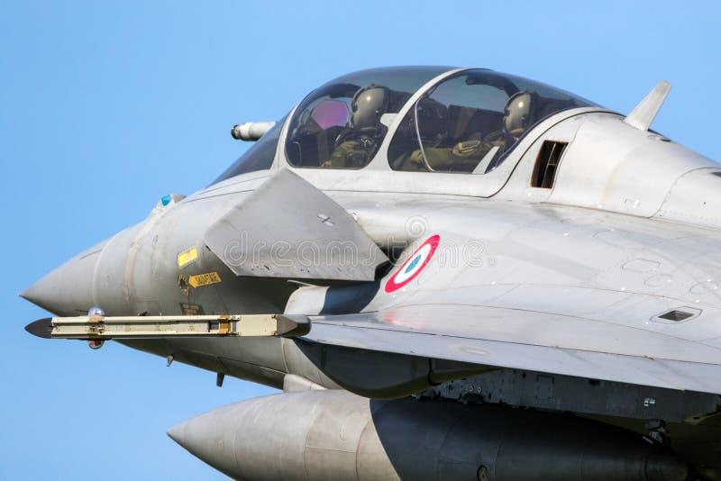 Στρατιωτικό πολεμικό τζετ Ντασσώ Rafale στοκ φωτογραφίες
