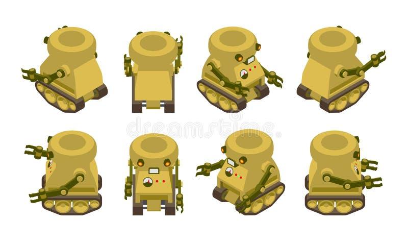 Στρατιωτικό ρομπότ ελεύθερη απεικόνιση δικαιώματος