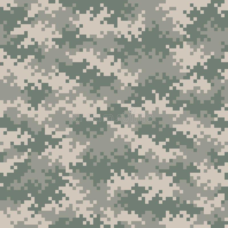 Στρατιωτικό σχέδιο εικονοκυττάρου κάλυψης χωρίς ραφή tileable απεικόνιση αποθεμάτων