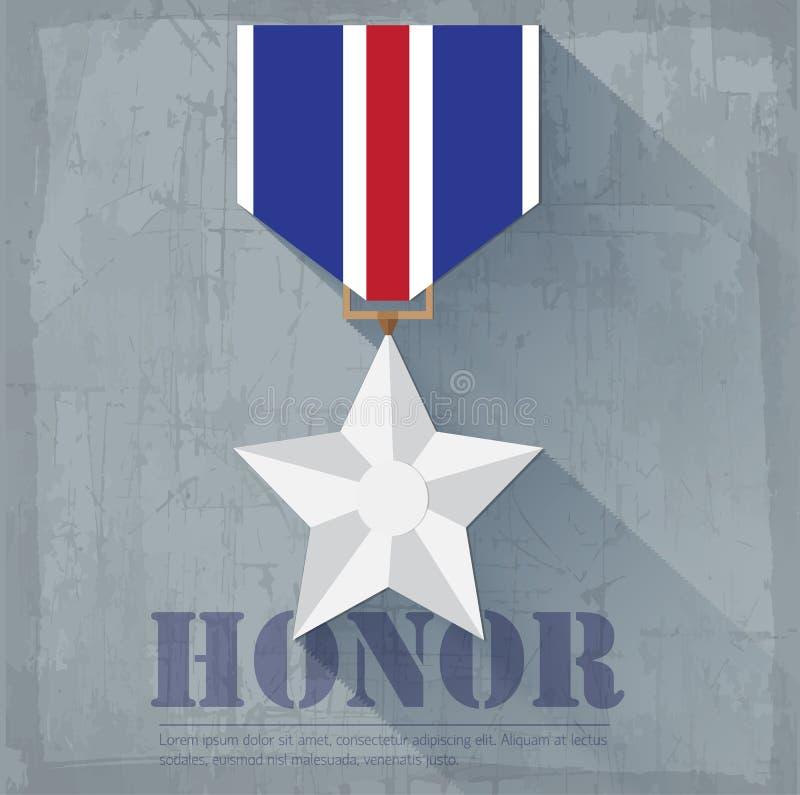 Στρατιωτικό υπόβαθρο εικονιδίων μεταλλίων τιμής Grunge ελεύθερη απεικόνιση δικαιώματος