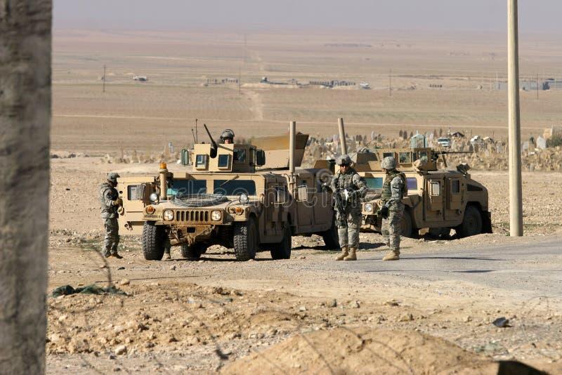 στρατιώτες ΗΠΑ του Ιράκ σ&ta στοκ εικόνες