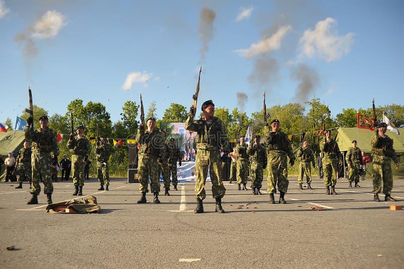 Στρατιώτες που απολύονται στον αέρα στοκ φωτογραφία με δικαίωμα ελεύθερης χρήσης