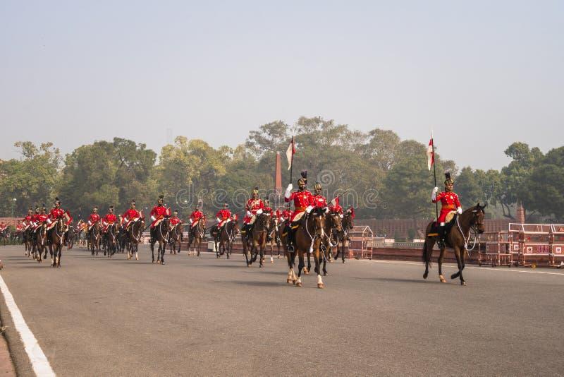 Στρατιώτες του ινδικού στρατού που βαδίζουν σε Rajpath στοκ φωτογραφία με δικαίωμα ελεύθερης χρήσης